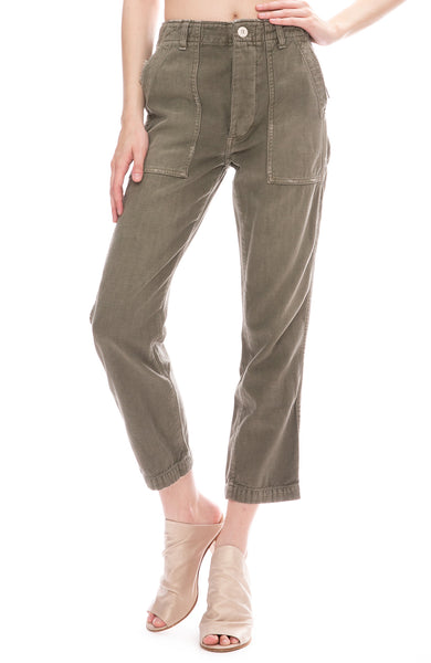 AMO Army Pants in Gray Green