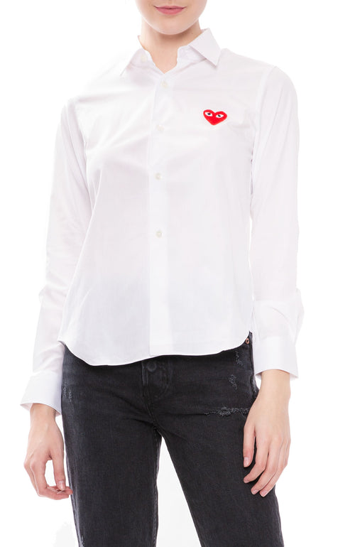 Play Red Heart Button Down Shirt
