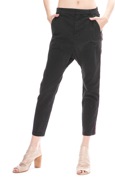 Nili Lotan Paris Pants with Tape at Ron Herman in Navy