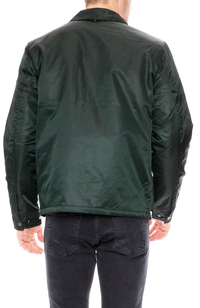 The Very Warm Grant Coach's Jacket in Evergreen with Lining Art by Gil Goren