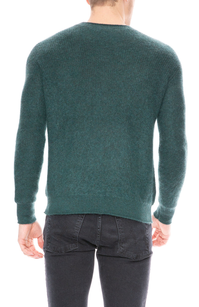 John Elliott Teal Mohair Sweater at Ron Herman