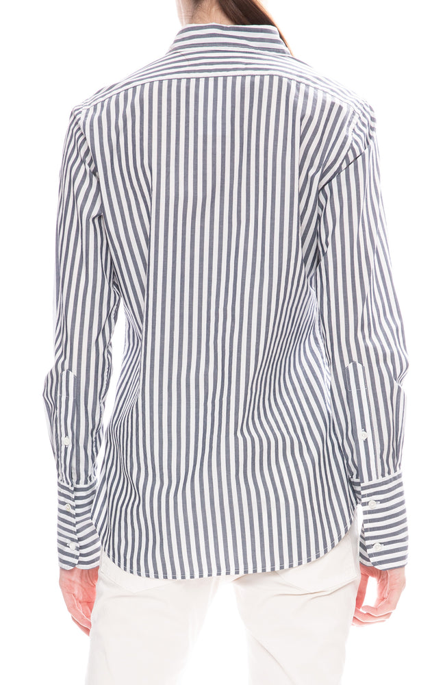 Nili Lotan Helen Striped Poplin Shirt