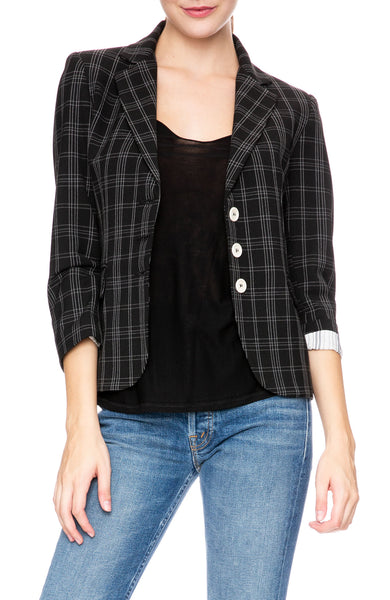 Ron Herman Exclusive Schoolboy Blazer in Black Plaid