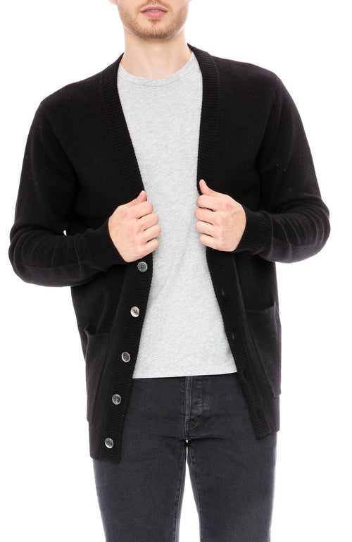 John Elliott Cashmere Cardigan in Black at Ron Herman