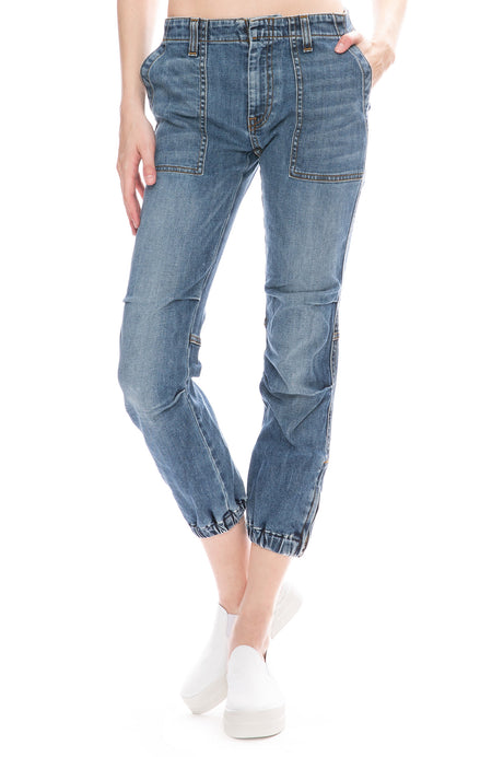 Cropped French Military Jean