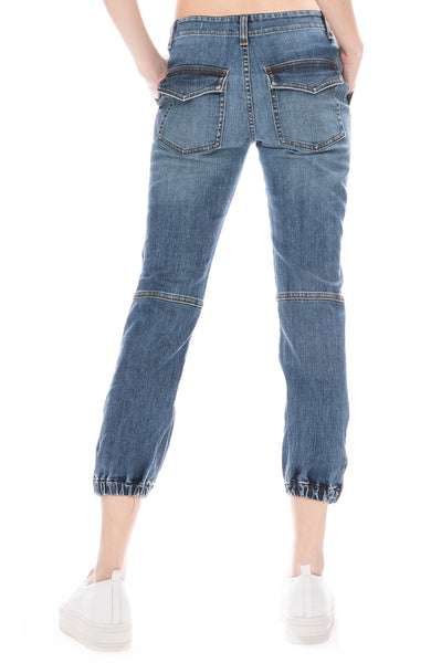 Nili Lotan Cropped French Military Jean in Duane Wash