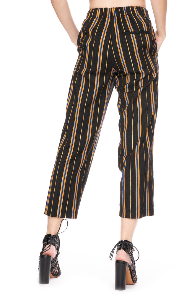 Forte Forte Masai Metallic Stripe Pants at Ron Herman