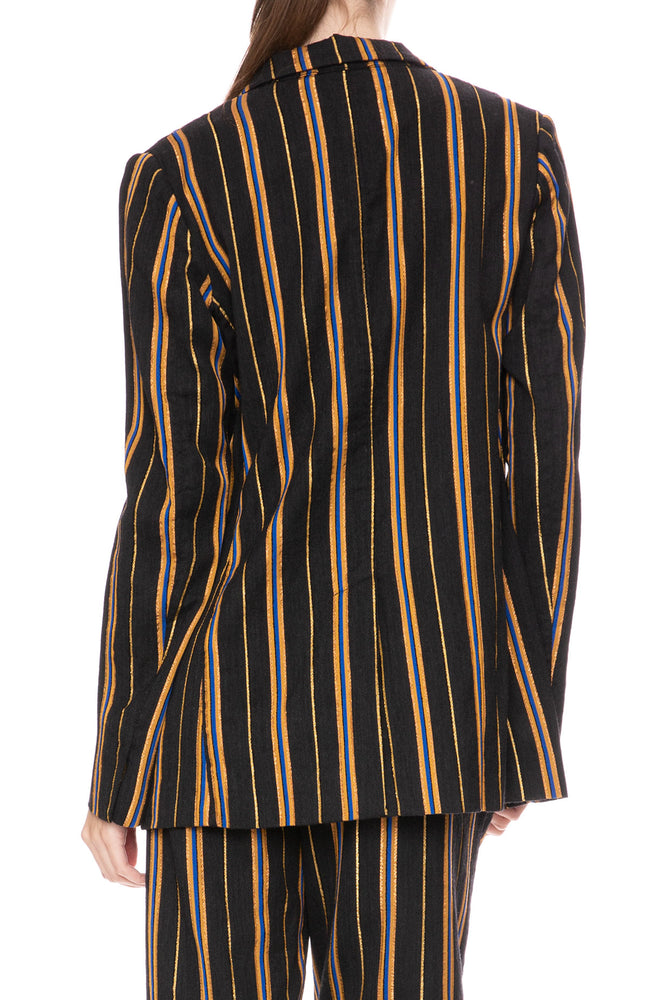 Forte Forte Masai Metallic Stripe Jacket at Ron Herman