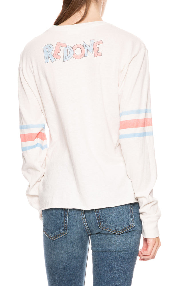 RE/DONE Long Sleeve Logo Tee at Ron Herman