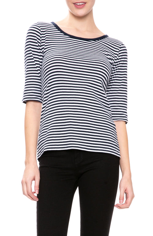 Christina Lehr Sailor Stripe T-Shirt in White at Ron Herman