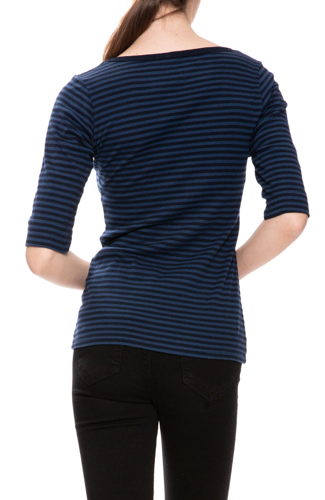 Christina Lehr Sailor Stripe T-Shirt in Navy at Ron Herman