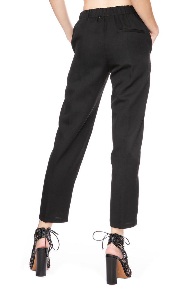 Forte Forte Wool Diagonal Pants in Nero (Black) at Ron Herman