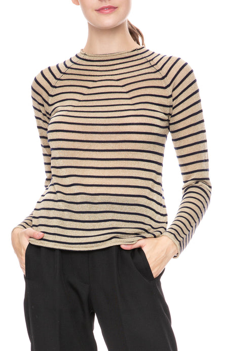 Lurex Stripe Sweater