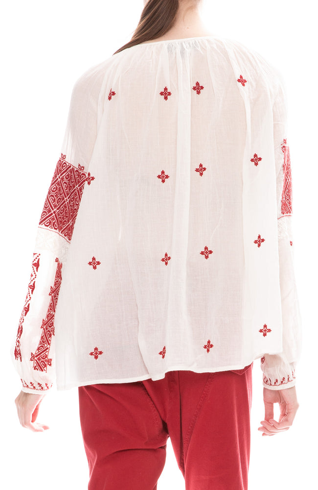 Nili Lotan Alassio Embroidered Top
