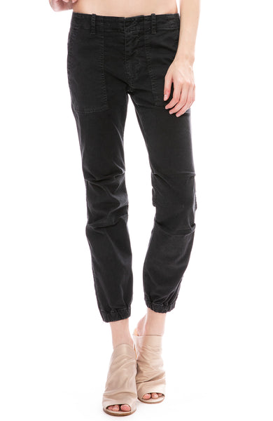 Nili Lotan Cropped Military Pants in Carbon Dark Grey