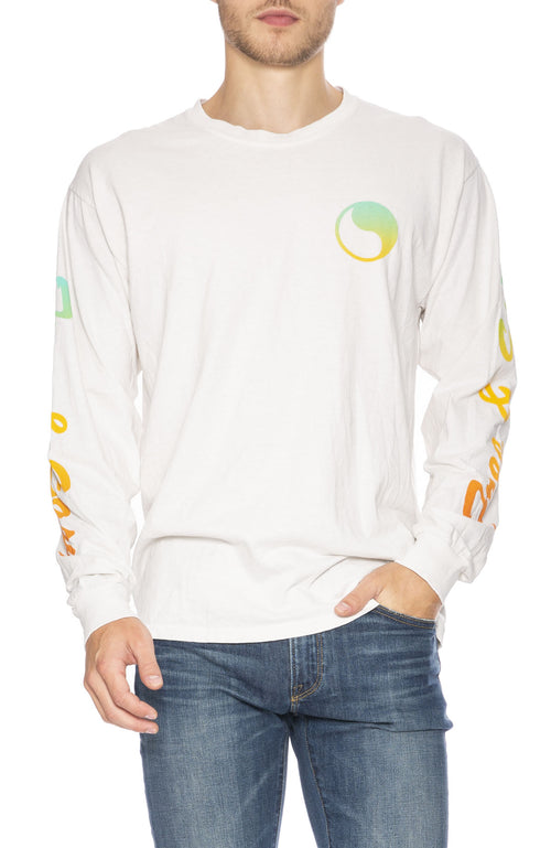 Free & Easy Sunset Long Sleeve T-Shirt in Dirty White