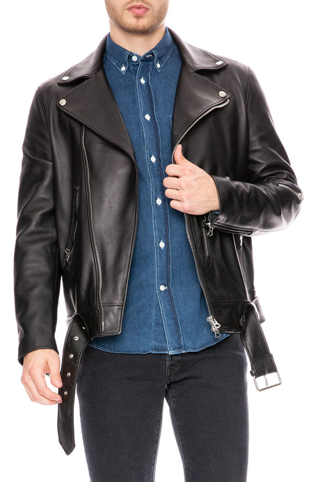 Nate Clean Leather Jacket