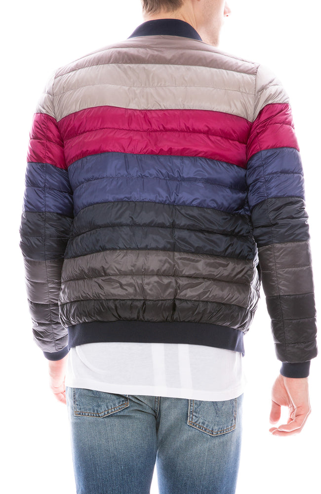 Nylon Reversible Stripe Jacket