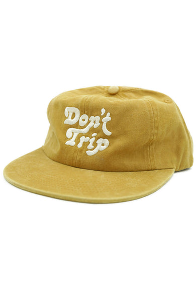 Free & Easy Don't Trip Washed Hat in Mustard