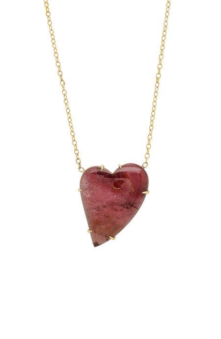 Pink Tourmaline Heart Necklace