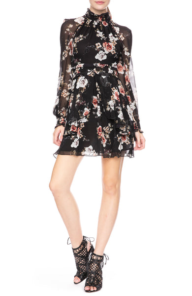 Nicholas High Neck Floral Dress at Ron Herman