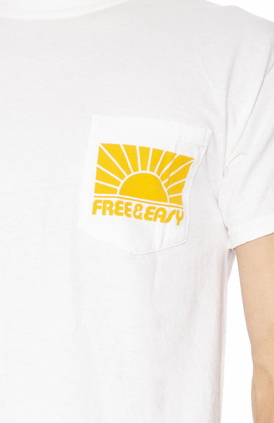 Free & Easy Mens Rays Pocket T-Shirt