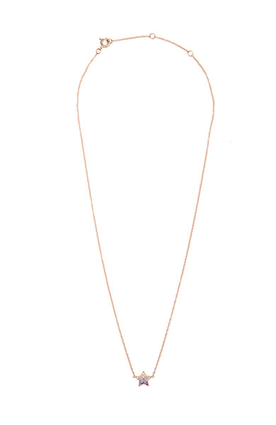 Shain Leyton 14K Rose Gold Ombre Sapphire Star Necklace at Ron Herman