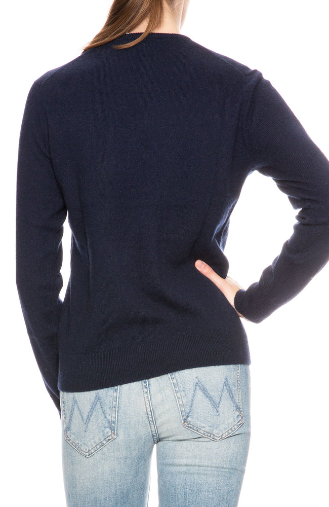 Kule Cashmere Love Sweater in Navy at Ron Herman