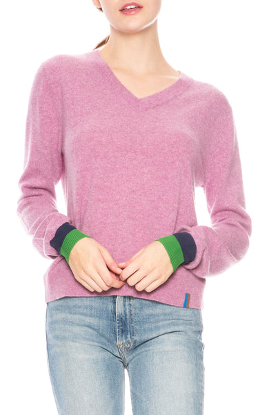 d1302188097 Kule Sawyer V-Neck Sweater in Berry at Ron Herman ...