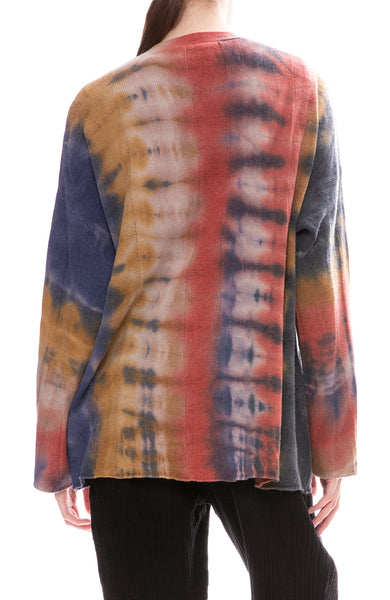 Raquel Allegra Rainbow Tie-Dye Cardigan Sweater