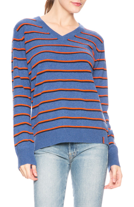 Camden Striped V-Neck Sweater