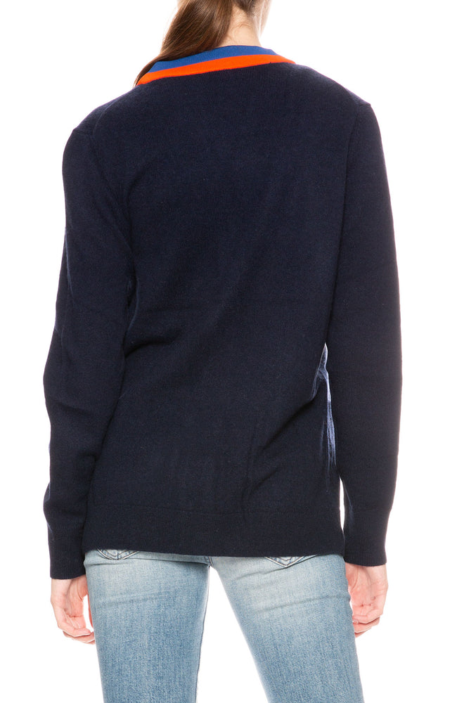 Kule Greyson Cashmere Blend Cardigan in Navy at Ron Herman