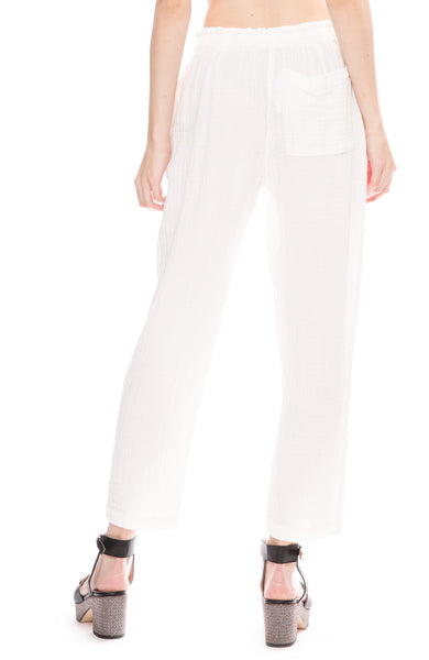 Cotton Gauze Drawstring Pants
