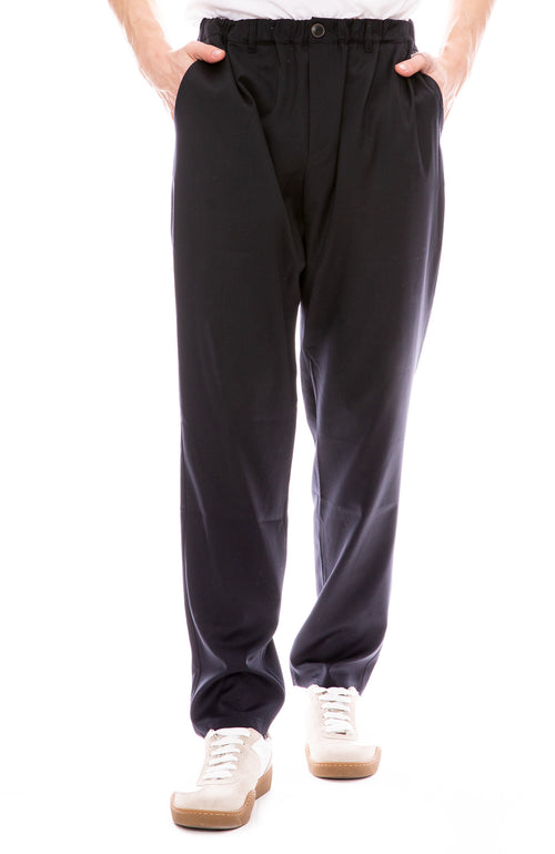 Elastic Wide Trouser Pants