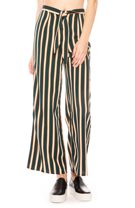 Stripe Crop Wide Leg Pant