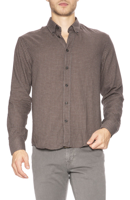 Taylor Micro Check Button Down Shirt