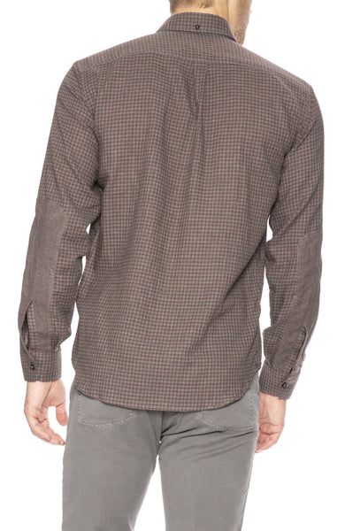 Billy Reid Taylor Micro Check Button Down Shirt at Ron Herman