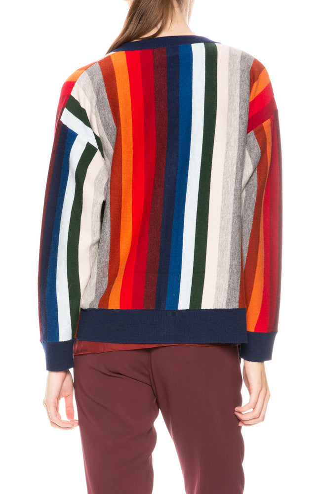 The Great Rainbow Stripe Cardigan at Ron Herman