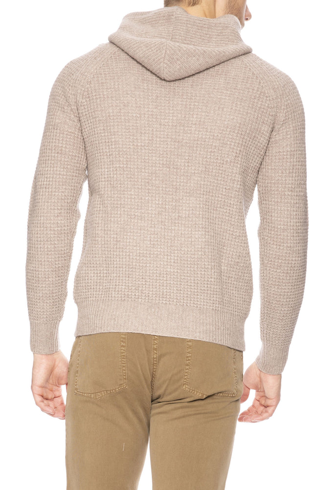Hartford Waffle Cashmere Pullover Hoodie in Natural at Ron Herman