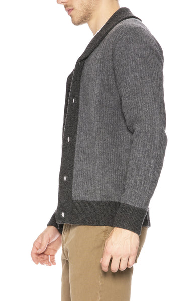 Hartford Bicolor Rib Shawl Knit Cardigan