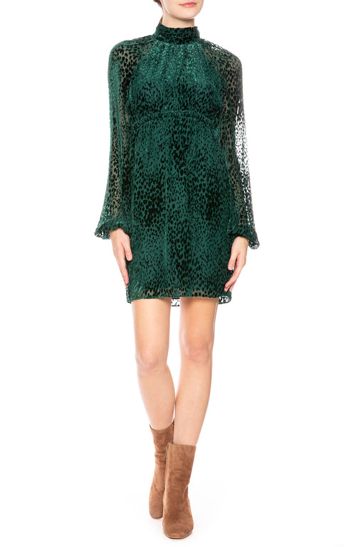 A.L.C. Nadia Velvet Burnout Dress at Ron Herman