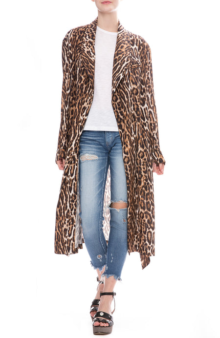 Leopard Smoking Robe