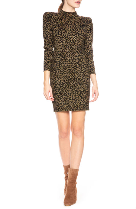 Mahry Leopard Metallic Dress