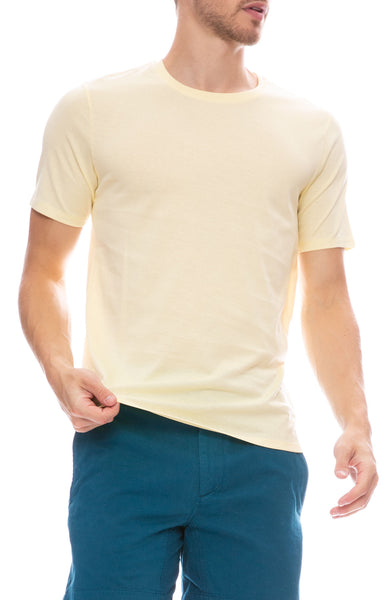 Acne Studios Measure Cotton T-Shirt in Vanilla Yellow
