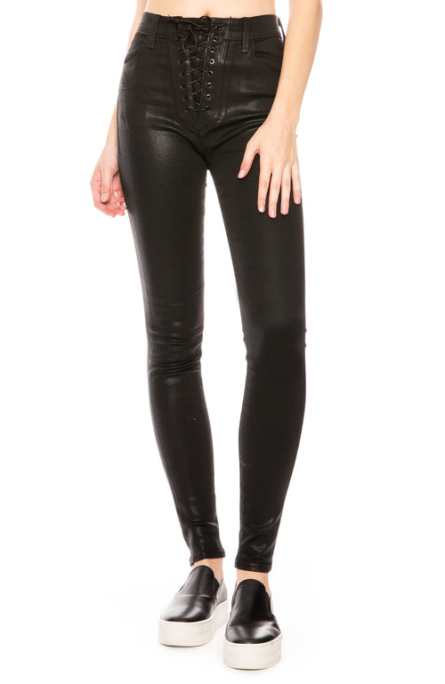 J Brand High Rise Lace Up Jean at Ron Herman