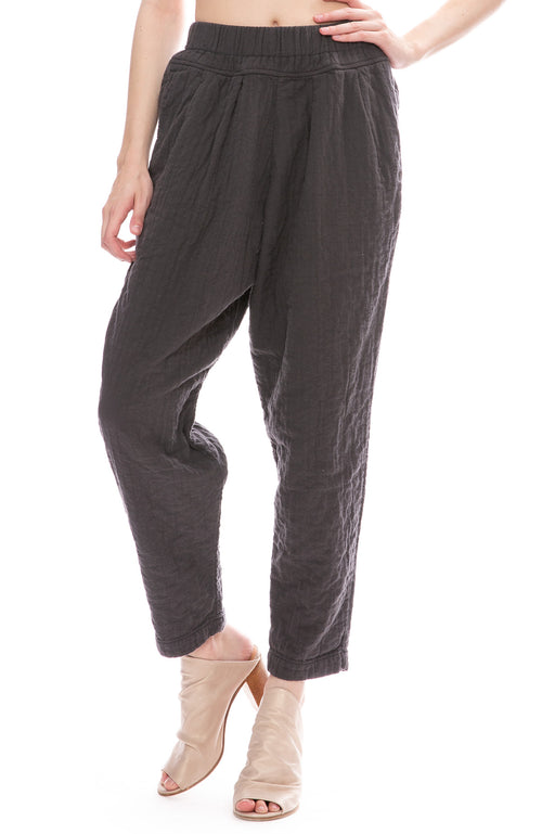 Black Crane Carpenter Pants in Charcoal