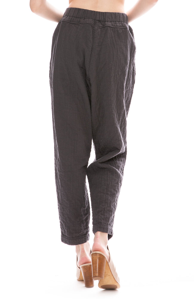 Black Crane Charcoal Linen Carpenter Pants