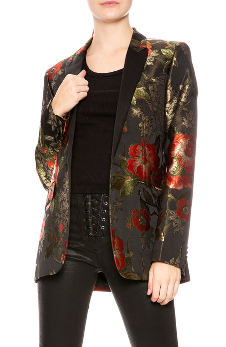Johnny Floral Print Suit Jacket