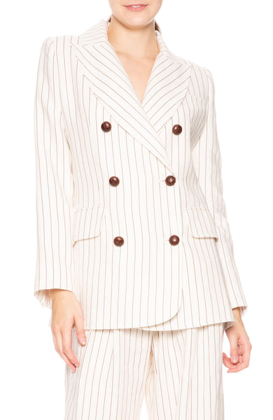 Zimmermann Corsage Stripe Blazer at Ron Herman