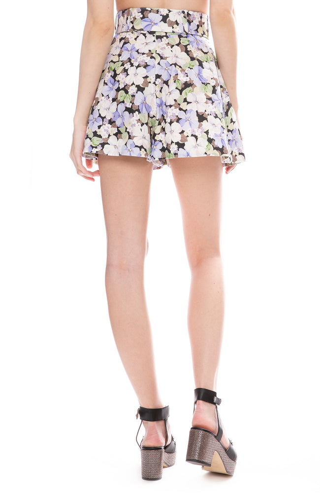 Zimmermann Pansy Print Ninety-Six Flared Shorts